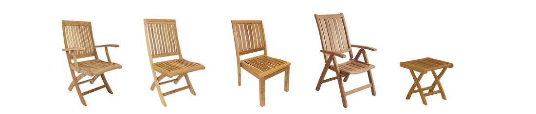 ATLANTIC sedie pieghevoli - impilabili in teak