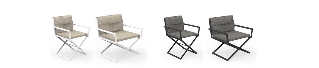 ITACA sedie registra in alluminio