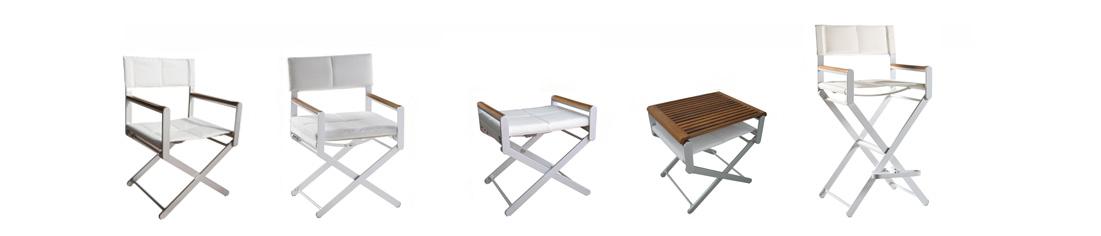 OSKAR sedie regista in alluminio