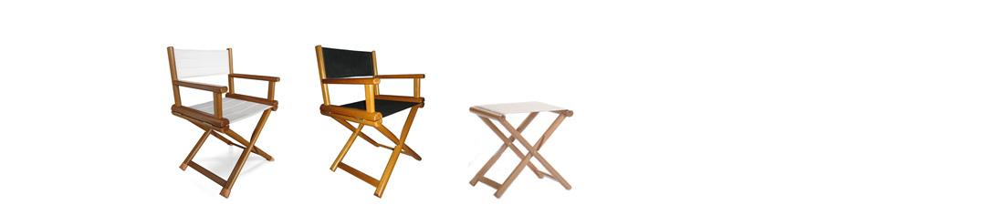 OVAL sedia regista in legno