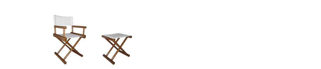 ROUND sedia regista in legno